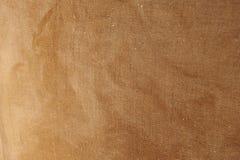 Abstrakte Nahaufnahme der alten Taschen-Beschaffenheit des groben Sackzeugs Lizenzfreies Stockbild