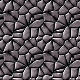 Abstrakte nahtlose Beschaffenheit 3d mit silbernen Steinen Stockfotos