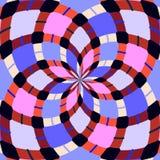 Abstrakte nahtlose geometrische Muster Kaleidoskop nahtlos stockbilder