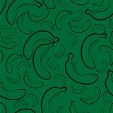 Abstrakte nahtlose Hintergrunddesign-Stoffbeschaffenheit mit Bananenelementen Endloses Gewebemuster des kreativen Vektors mit Stockbilder