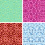 4 abstrakte nahtlose Muster Stockbild