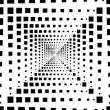 Abstrakte nahtlose Musterillustration von rechteckigen Fliesen der optischen Täuschung stock abbildung