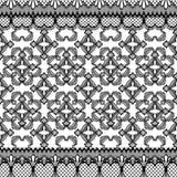 Abstrakte nahtlose Musterillustration von Spitzen- Bl?ttern, mit Blumen und von Herzen im geometrischen Plan vektor abbildung