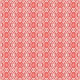 Abstrakte nahtlose Musterillustration von Spitzen- Blättern, mit Blumen und von Strudeln im geometrischen Plan vektor abbildung