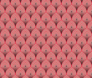 Abstrakte nahtlose Welle streift die Muster und wiederholt Beschaffenheitsfliesen-Vektordesign Stockfotos