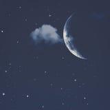 Abstrakte natürliche Hintergründe mit nächtlichen Himmeln Stockfotografie