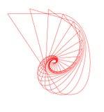 Abstrakte Nautilus-umreiß Stockbild