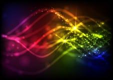 Abstrakte Neon-Wellen. Lizenzfreie Stockfotos