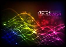 Abstrakte Neon-Wellen Stockfotografie
