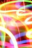 Abstrakte Neonleuchten Stockbild