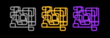 Abstrakte Neonzeilen Stockfotos