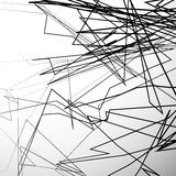 Abstrakte nervöse Linien künstlerischer Grayscalehintergrund Lizenzfreie Stockbilder