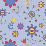 Abstrakte nette Hintergrund-Blumen-nahtloses Muster Lizenzfreie Stockfotografie