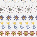 Abstrakte nette Hintergrund-Blumen-nahtloses Muster Stockfotos