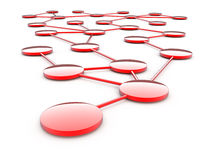 Abstrakte Netzkommunikation Stockfoto