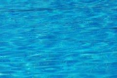 Abstrakte Oberflächenhintergrundbeschaffenheit des blauen Wassers Stockbild