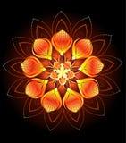 Abstrakte orange Blume Lizenzfreies Stockfoto