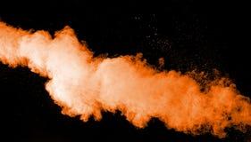 Abstrakte orange Farbpulverexplosion Lizenzfreies Stockfoto