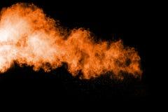 Abstrakte orange Farbpulverexplosion Lizenzfreies Stockbild