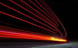 Abstrakte orange, rote und gelbe Leuchten Lizenzfreie Stockfotografie