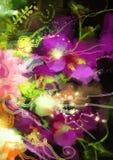 Abstrakte Orchideenblumen Lizenzfreies Stockfoto