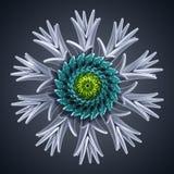 abstrakte organische Schneeflocken-Sternform der Blume 3d Stockbild