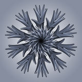abstrakte organische Schneeflocken-Sternform der Blume 3d Lizenzfreies Stockbild
