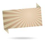 Abstrakte origami Spracheblase von bereiten Papier auf Lizenzfreie Stockfotografie