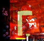 Abstrakte Papiercollage Stockfoto