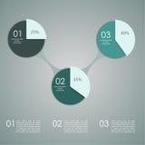 Abstrakte Papierfahne für infographics, Lizenzfreie Stockbilder