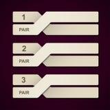 Abstrakte Papierpaare infographic Lizenzfreie Stockfotografie