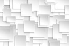 Abstrakte Papierrechteckdesignsilber-Hintergrundbeschaffenheit Stockfotografie