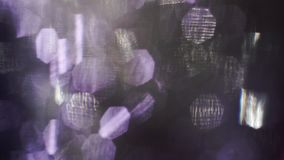 Abstrakte Partikel des Lichtes, Störschub, lauter Fernseheffekt Überlagerung für träumerischen Blick stock footage