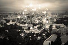 Abstrakte Partikelstruktur Lizenzfreie Stockfotografie
