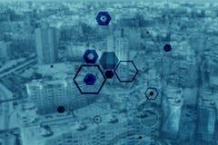 Abstrakte Partikelstruktur Stockfoto