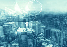 Abstrakte Partikeltechnologiestruktur Lizenzfreie Stockfotos