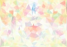 Abstrakte Pastell- Farbe- niedrige Poly-bokeh Tapete Stockbild