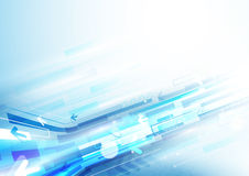 Abstrakte Pfeile und digitaler Konzepthintergrund der Rechtecktechnologie Lizenzfreie Stockfotos