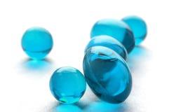 Abstrakte Pillen in der cyan-blauen Farbe Lizenzfreie Stockfotografie