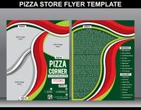 Abstrakte Pizzaspeicher-Fliegerschablone Lizenzfreie Stockfotografie