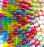 Abstrakte Plastikstrohe hell lizenzfreie stockbilder