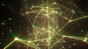 Abstrakte Plexusformen Digital-, Kommunikations- und Technologiehintergrund geschlungen stock abbildung