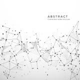 Abstrakte Plexusstruktur von digitalen Daten, von Netz und von Knoten Partikel und Punktverbindung Atom- und Molekülkonzept stock abbildung