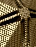 abstrakte Polkapunkte des Gold 3d Lizenzfreie Stockfotografie