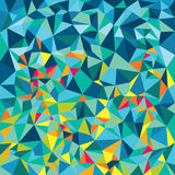 Abstrakte polygonale niedrige Polyfahnen Stockfotos