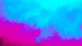 Abstrakte psychedelische Himmel mit cyan-blauen Wolken stock video