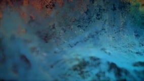 Abstrakte Punktematrix schlang sich in einem Wellenmuster Lesung des glatten vibrierenden Spektrums Bereite Animation der Schleif Stockfoto
