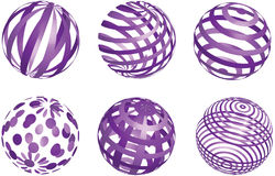 Abstrakte purpurrote Bälle des Vektors Stockfotografie
