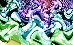 Abstrakte purpurrote blaue Tapete bokeh grüne Farbe der Zeitverzerrung Lizenzfreie Stockfotos