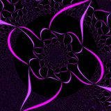 Abstrakte purpurrote Farbband-Auslegung Lizenzfreie Stockbilder